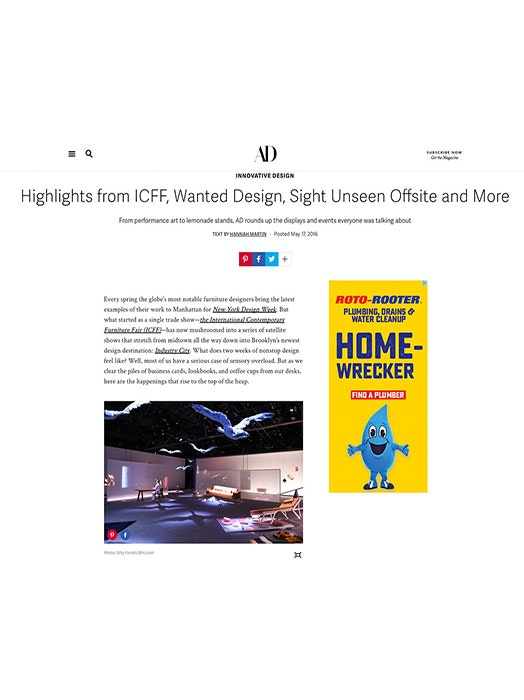 Architectural digest icff highlight may 2016 main image