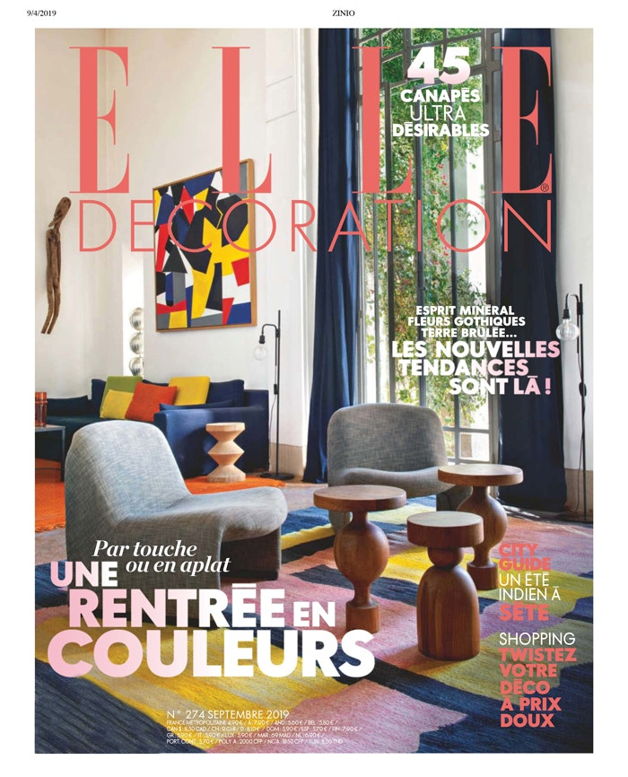 Cover  elle decoration france   september 2019   d co 1